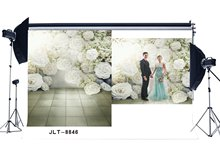 Photography Backdrops Fancy Blooming Flowers & Flower Vine Marble Floor Seamless Newborn Baby Background