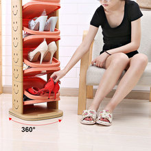 6/8/10 Layers Simple Multi-storey Shoes Hanger Simple Strong Structure Detachable Rotating Shoe Rack Storage Plastic