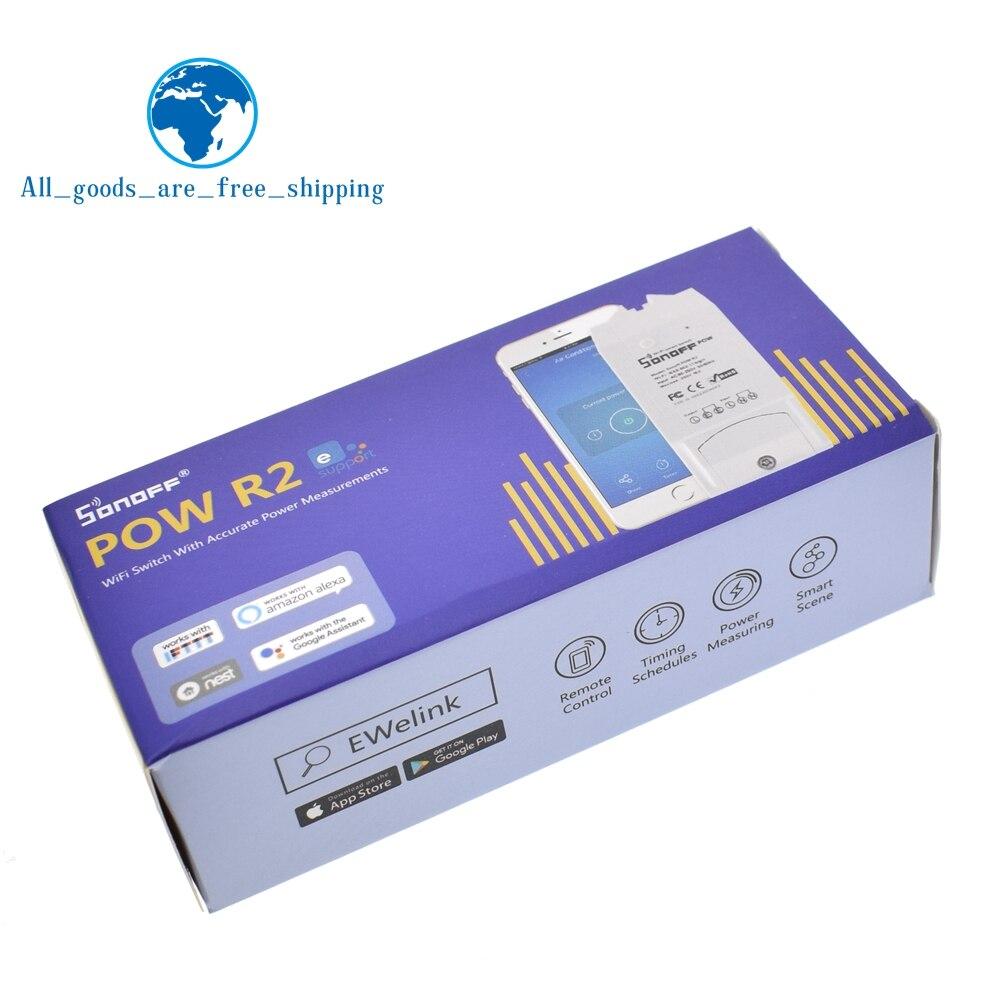 Image 3 - Sonoff Pow R2 15A 3500 Вт Wifi смарт коммутатор Высокая точность энергопотребление измерительный монитор Потребление энергии тока работа с Alexa-in Интегральные схемы from Электронные компоненты и принадлежности on AliExpress