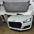 Car-Styling TTRS Style silver frame black Front Bumper Honeycomb mesh Grill Grille with quattro For Audi TT MK3 Typ 8S 2015 up