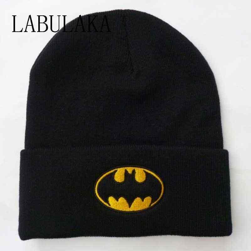 8674d49c153 New Winter Caps Women Batman Face Mask Unisex BBOY Black Hip Hop  Skullies Beanies Men Cotton Knit