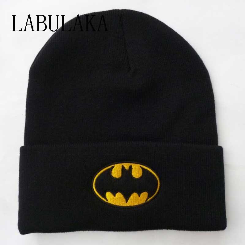 New Winter Caps Women Batman Face Mask Unisex BBOY Black Hip Hop Skullies&Beanies Men Cotton Knit Gorro Ski Bonnet Balaclava