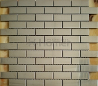 Free Shipping Brick Pattern Stainless Steel Metal Mosaic Tile Silver Color HME8056 Homer Mosaic 11 Sq