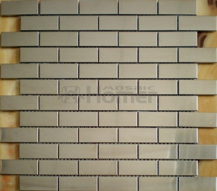 Free Shipping Brick Pattern Stainless Steel Metal Mosaic