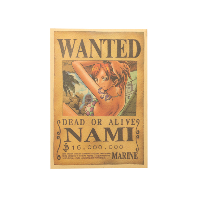 One Piece Nami Reward Orders Classic Poster