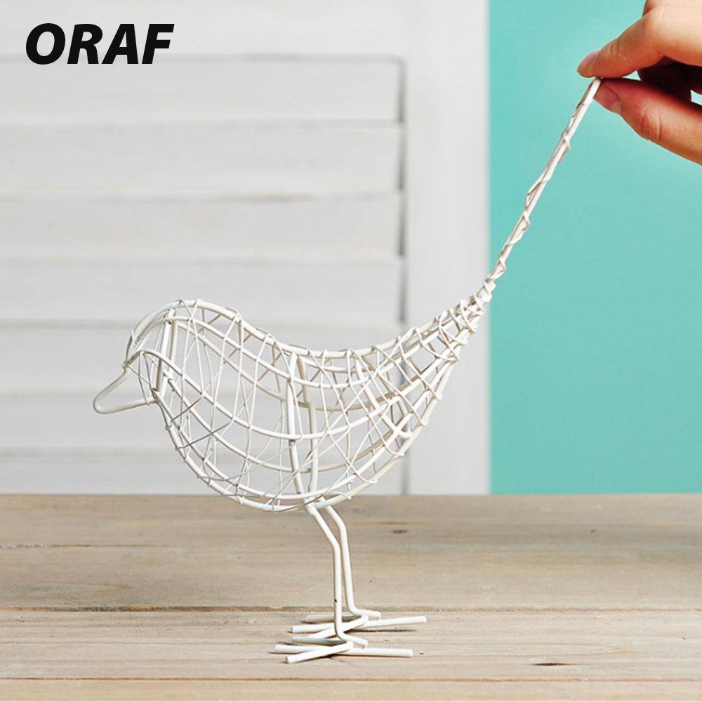 Metal Iron Wire Bird Hollow Model Artificial Craft Fashionable Home ...