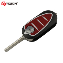 YIQIXIN Flip Folding 3 Buttons Remote Car Key Shell Fob Fit For Alfa Romeo Mito Giulietta GTO 159 Automotive Red