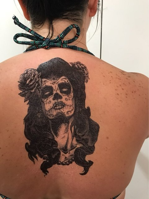 65b5ff00f Waterproof Temporary Tattoo Sticker large size witch Mexico mexican skull  tatto stickers flash tatoo fake tattoos for girl women