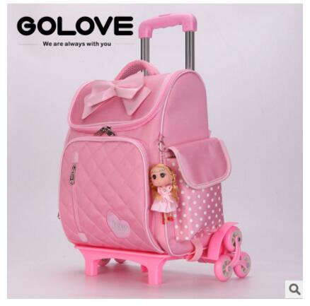 Wheeled backpack for school kid's rolling School Bags for girls School Backpack for boys Girl's School Bag Mochila for children цена 2017