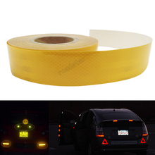 5CMx10M Red/yellow Safety reflective Truck body stickers with warning effect in the night  free shipping