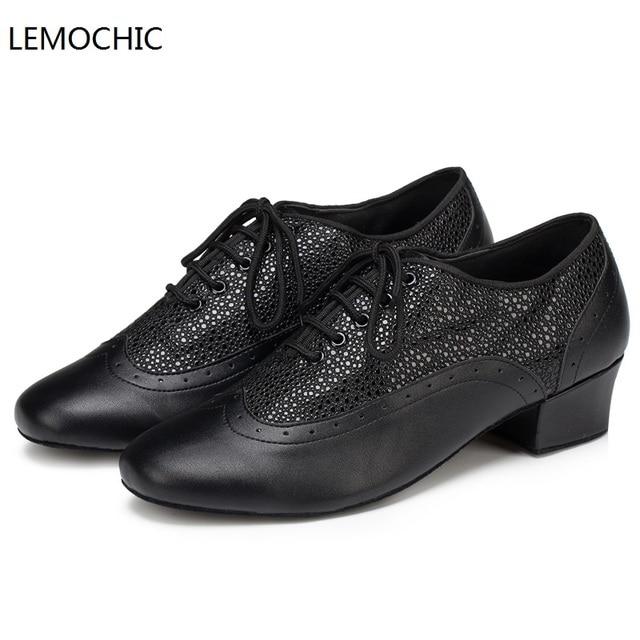 the latest 26870 e295f US $39.0 17% di SCONTO|LEMOCHIC nuovo stile rumba latin tango jazz del  ventre tap arena classica sala da ballo scarpe di alta qualità per ballare  ...