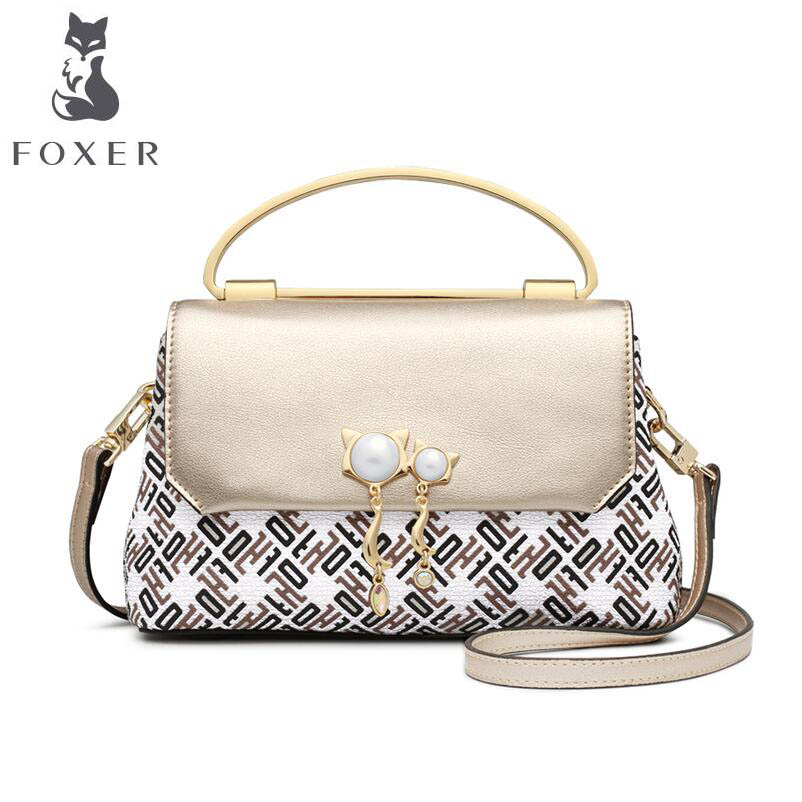 FOXER brand bags for women 2018 new women leather bag fashion luxury handbags bags designer women leather handbag tote small bag new handbags women fashion leather tote women handbag female famous brand shoulder bags lady luxury bag cossbody bags for women