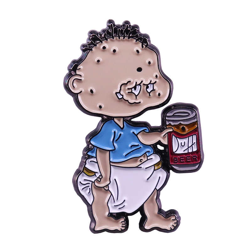 Tommy Sottaceti Distintivo Simpson Duff Beer Pin 90 S Nostalgico Del Fumetto Pop Mash-Up Collection