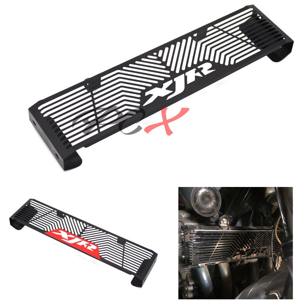 For <font><b>YAMAHA</b></font> <font><b>XJR</b></font> <font><b>1300</b></font> XJR1300 1998-2008 Black/Red Black Motorcycle Accessories Radiator Guard Protector Grille Grill Cover image
