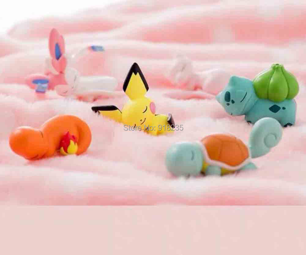 Toy Protector Action-Figures Bulbasaur Sylveon Squirtle Charmander Pichu Animal-Cable