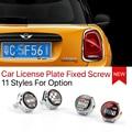Mini Cooper car license plate fixed screw countryman clubman Copue Roadster R53 R55 R56 R57 R58 R59 R60 R61 F55 F56 Accessories