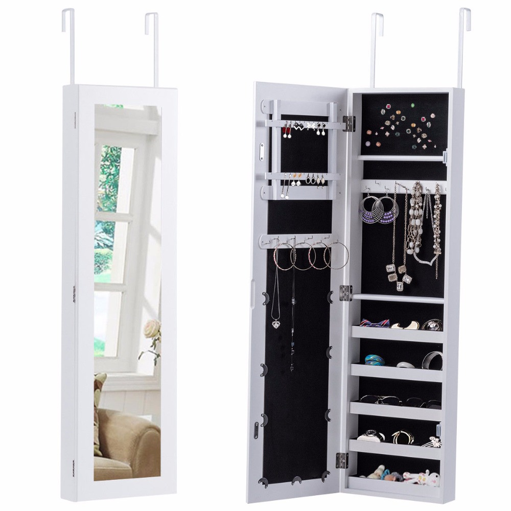 jewelry cabinet mirror aliexpress buy goplus mirrored jewelry armoire 18019