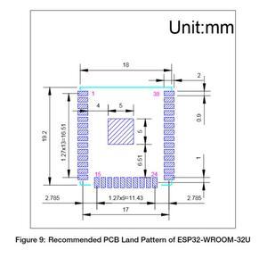 Image 5 - ESP32 WROOM 32U 4 mo 8 mo 16 mo mémoire Flash wi fi + BT + BLE ESP32 Module IPEX connecteur dantenne Espressif Original