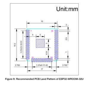 Image 5 - ESP32 WROOM 32U 4MB 8MB 16MB Flash bellek wi fi + BT + BLE ESP32 modülü IPEX anten konnektör Espressif orijinal