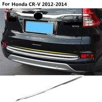 Car Styling Stainless Steel Rear Door License Tailgate Bumper Frame Plate Trim 1pcs For Honda CRV