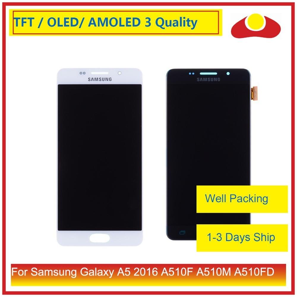 Oryginalny do Samsung Galaxy A5 2016 A510 A510F A510M A510FD wyświetlacz LCD z ekranem dotykowym panel digitizera montaż kompletnyEkrany LCD do tel. komórkowych   -
