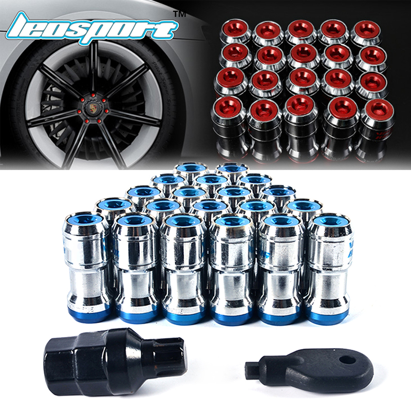 Leosport-New Style For Volk rays Wheel Nuts Iron Racing Lug Nuts 20pcs lock racing lug nuts+2 pcs security key Wheel Screw Nuts цены