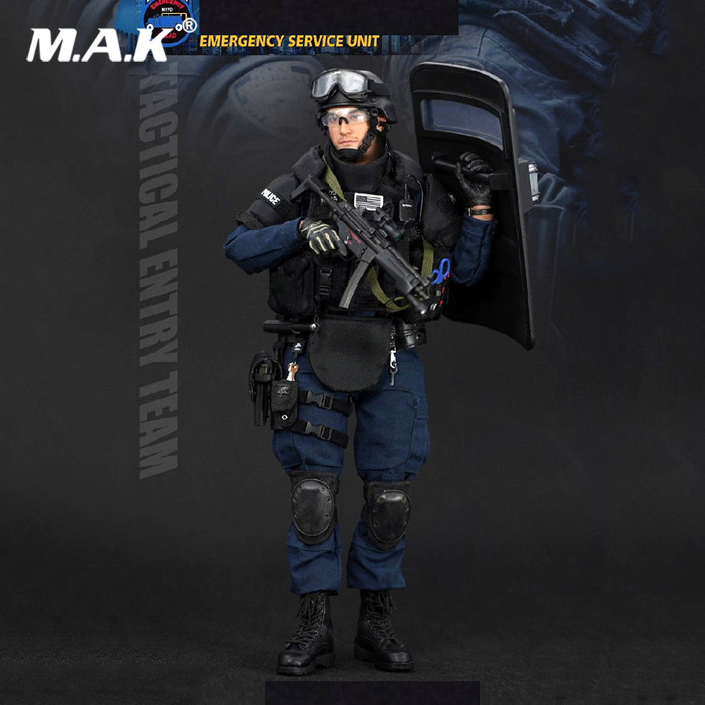 1/6 Scale New York Police Soldier ESU Tactical Entry Team Action Figure emergency service Unit full set collections dolls