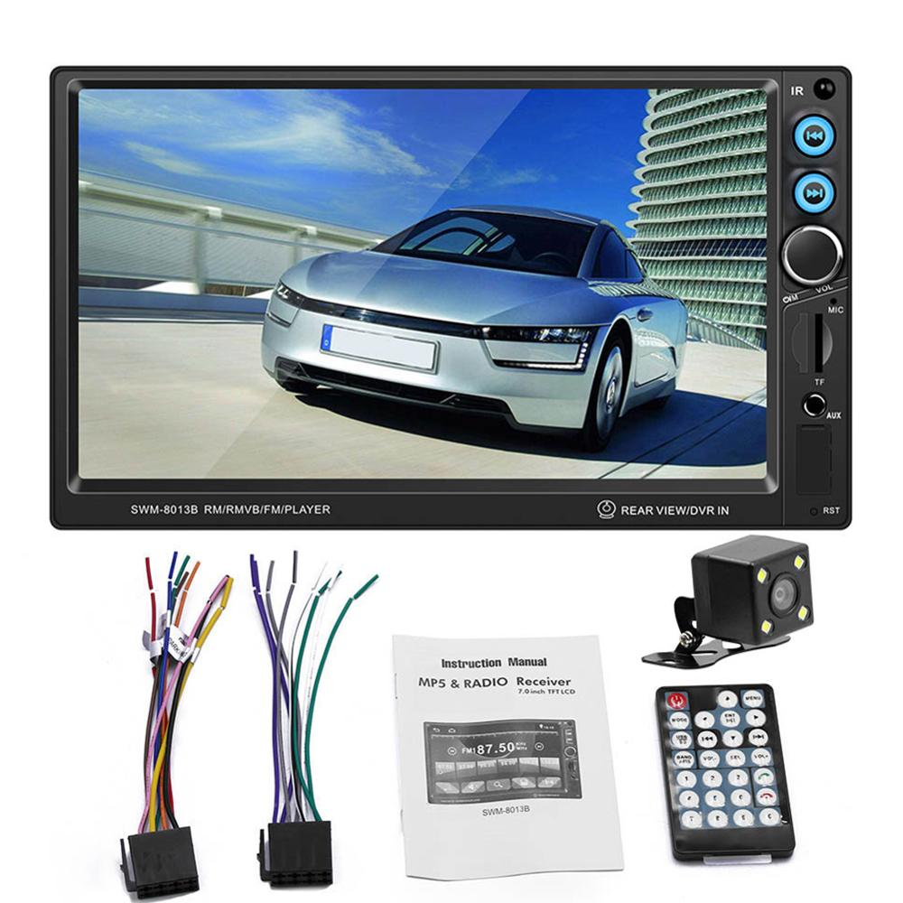 Car Radio 7 HD Autoradio Multimedia Player 2DIN Touch Screen Auto Audio Stereo MP5 Bluetooth AUX USB TF FM Reverse Camera