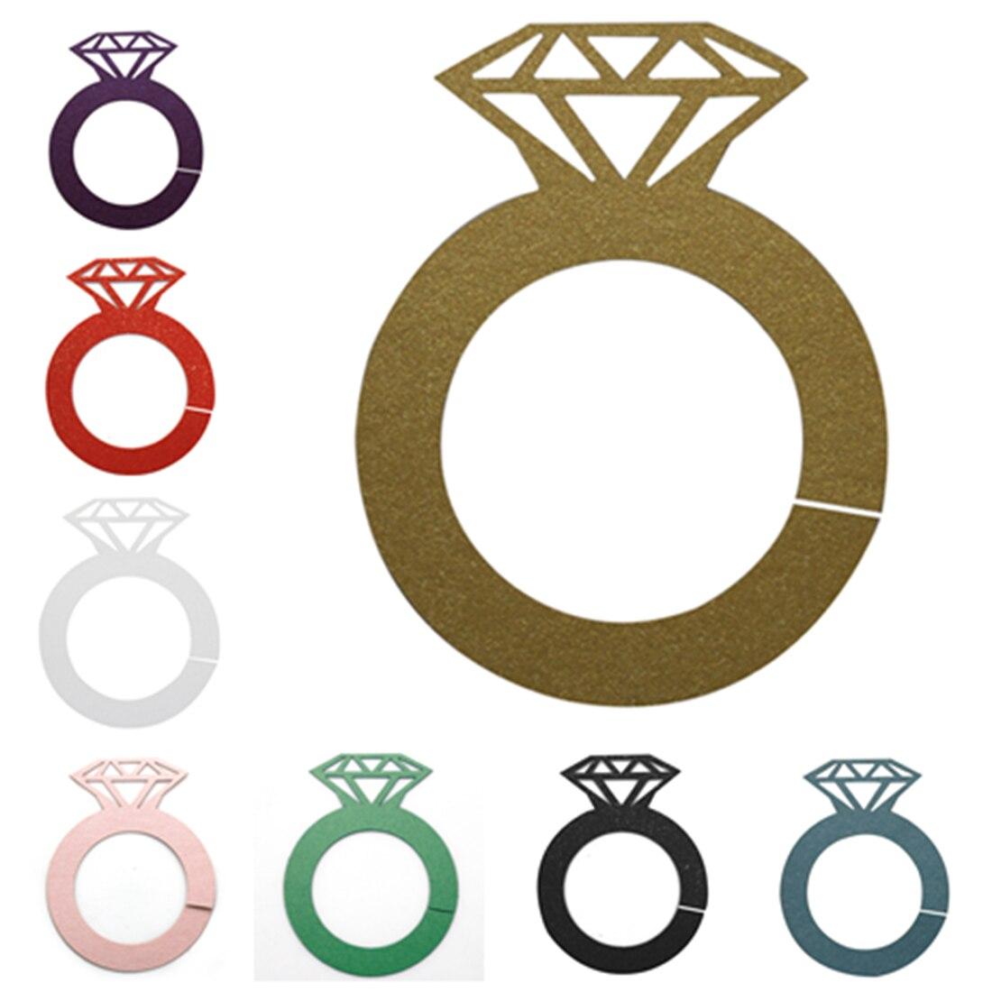 Creative 12Pcs Wine Charms Wine Tags Name Tags Diamond Rings Shape ...