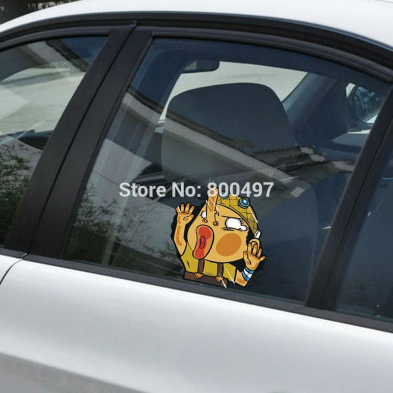 10 x Newest Car Styling Usop Hitting the Glass Car Stickers Car Decals for Toyota Chevrolet Volkswagen Tesla BMW Lada