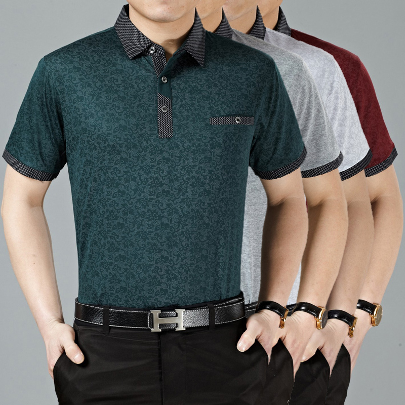 High quality newest fashion striped casual men business summer   polo   shirt