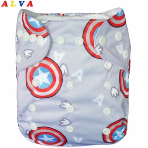 Новые многоразовые и моющиеся двухрядные заклепки ALVA со вставкой, подгузник для малышей YA54