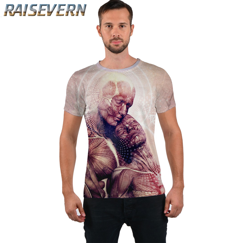 RAISEVERN New Character Couple Printed 3D Women/Mens t shirt Casual Short Sleeve T-Shirt Hipster Unisex Tees Tops Plus Size
