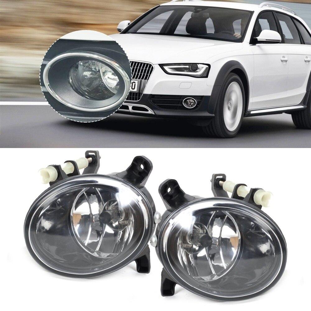 CITALL New Pair Front Right + Left Fog Light Lamp 8T0941699B 8T0941700B for Audi A4 A6 A5 A6 Q5 2010 2011 2012 2013 2014 2015 for audi a4 b8 s4 a4 allroad 2008 2009 2010 2011 2012 2013 2014 2015 car styling right side led fog light fog lamp