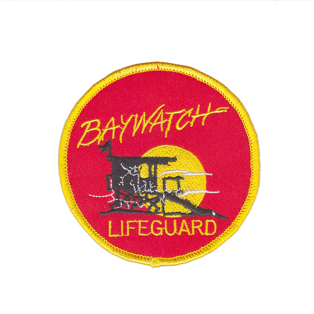 Salvation baywatch lifeguard logo iron on embroidered patch.