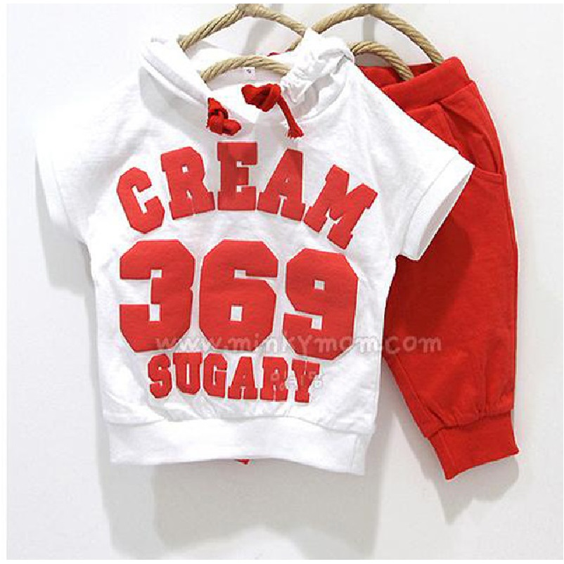 Digital 369 Baby Boys Clothes Sets 2 3 4 years White Kids Sport Suit Pants Children Tracksuits Thin Summer Clothing Suit for boy