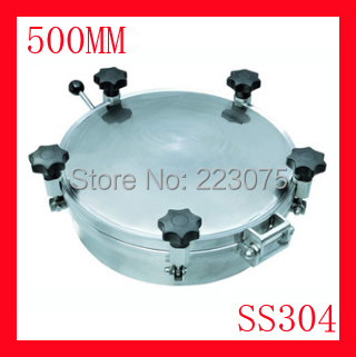 New arrival 500mm SS304 Circular manhole cover with pressure Round tank manway door Height:100mm Hatch new arrival 450mm ss304 circular manhole cover without pressure height 100mm tank hatch