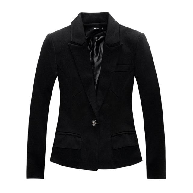 New Brand Black Blazer Plus Size Women Blazers and Jackets Slim OL Work  Wear Blazer European Style Blaser Feminina blazer women e692bd4b5