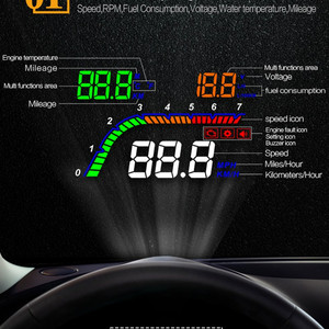 Image 3 - GEYUREN A100s T100 OBD auto hud head up head up display 2019 temperatur gauge obd Überdrehzahl Warnung System Projektor Windschutzscheibe