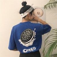 Yougeman الصيف المرأة الأزياء الأعلى 2018 أسلوب الكورية ulzzang المتناثرة مضحك المطبوعة قصيرة الأكمام قميص القمصان