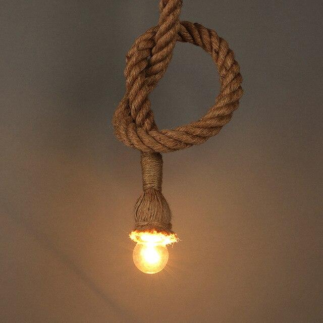 Voorkeur Vintage Touw Hanglampen Lamp Loft Bar Industriële Lamp 1 m Touw #KM27