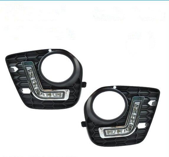 CYAN SOIL BAY 6500K Xenon White Led DRL Daytime Running Light For BMW E70/X5 M-tech 2011-2013 2012