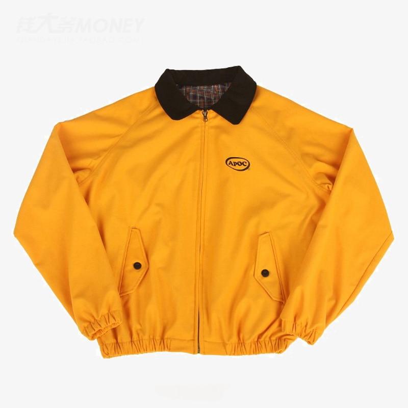 Men Jacket Spring Safari Style Yellow Clothes jaqueta masculina Korean Fashion Group BTS Jung Kook Streetwear casaco