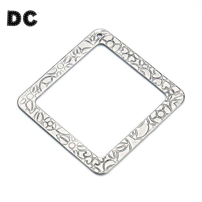 DC 10pcs/lot 37mm Stainless Steel Square Metal Stamping