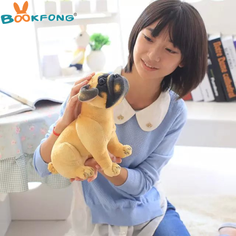 BOOKFONG cartoon The simulation plush toys Pugs dog plush toys kids toys puppy doll christmas gift drop super cute plush toy dog doll as a christmas gift for children s home decoration 20