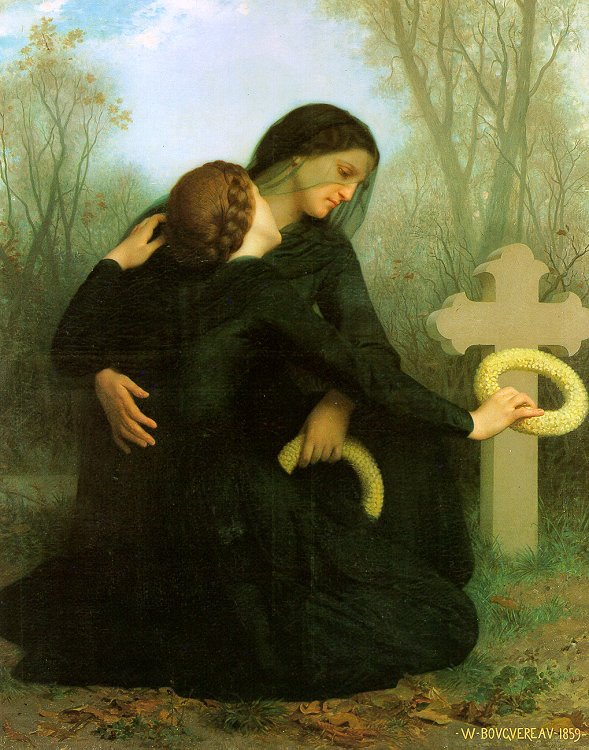 Handmade Oil painting reproduction Le Jour des Morts aka All Saints Day by William Bouguereau