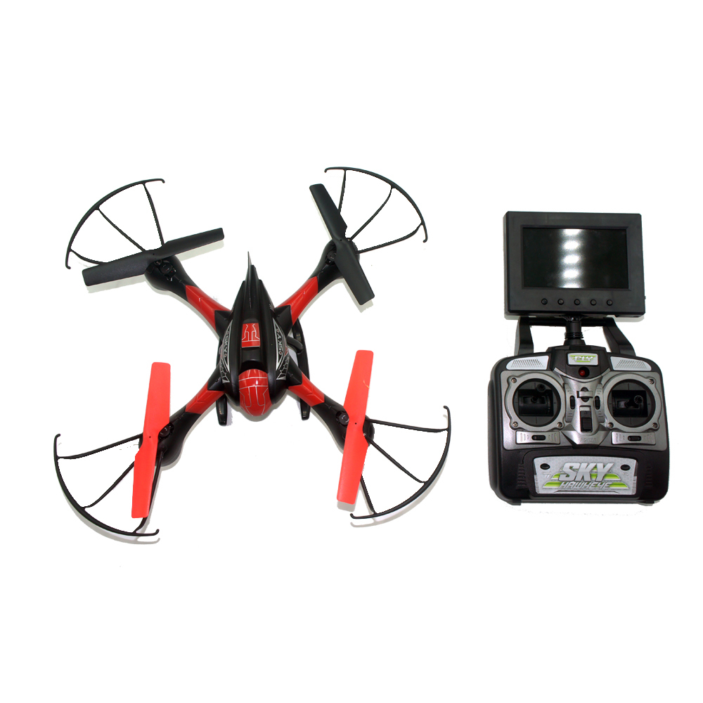 SKY Hawkeye 1315S 4CH 360 Flips 5.8GHz RC Quadcopter Drone w FPV 0.3MP Camera LCD Monitor Headless Mode RTF image