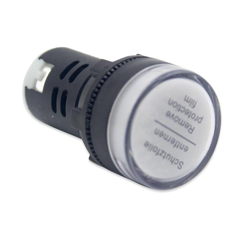 US Stock 5pcs Green LED Power Indicator Signal Light AC DC 12V 22mm AD16-22DS