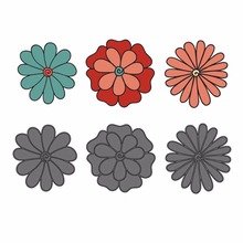 3pcs flower metal Steel Embossing Craft DIY Stencil For Metal Cutting Dies Machine paper cards Scrapbooking festival cards