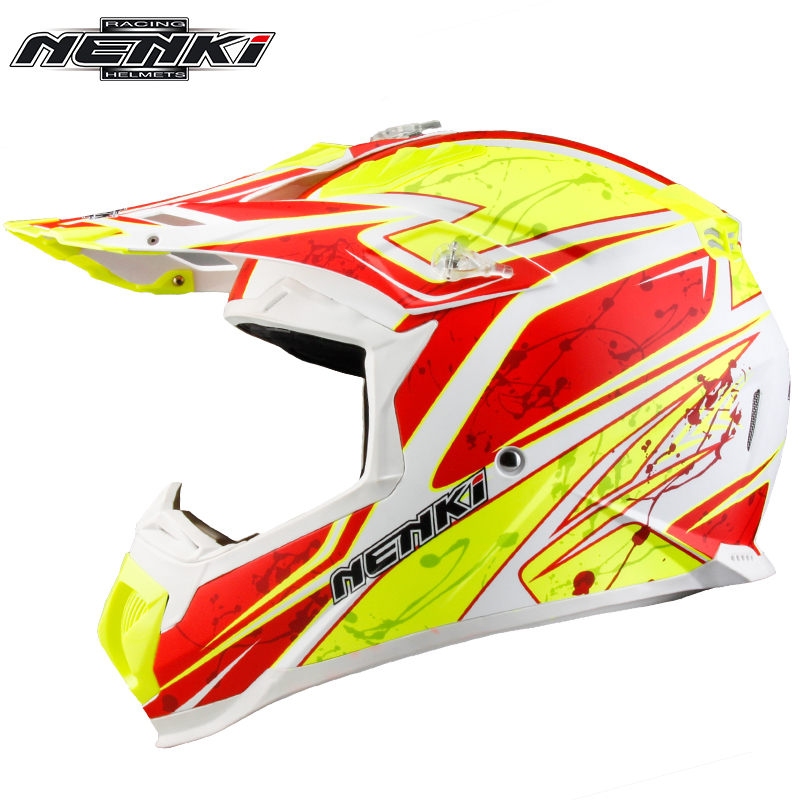 NENKI 315 Fashion Motocross Full Face Helmet Men Women Extreme Sports Motorcycle ATV Dirt Bike MX BMX DH MTB Racing Helmet nenki motorcycle helmets motocross racing helmet motorbike full face helmet capacete de moto for men and women 13 color